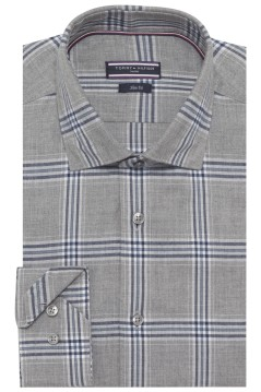 Tommy Hilfiger shirt grijs geruit slim fit