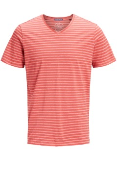 Jack & Jones Plus Size T-shirt rood gestreept