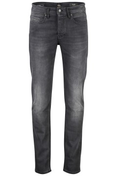 Hugo Boss tapered fit 5-pocket jeans zwart
