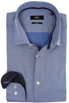 Overhemd Hugo Boss donkerblauw slim fit