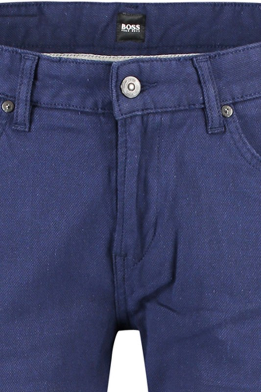Hugo Boss pantalon Delaware donkerblauw 5-pocket