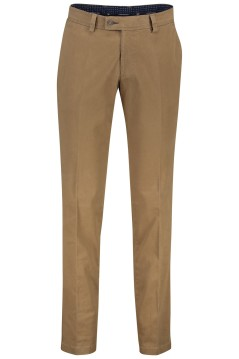Portofino flatfront pantalon camel regular fit