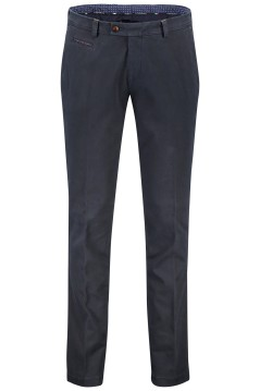 Portofino pantalon regular fit flatfront navy