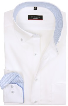 Overhemd Eterna Modern Fit wit button down