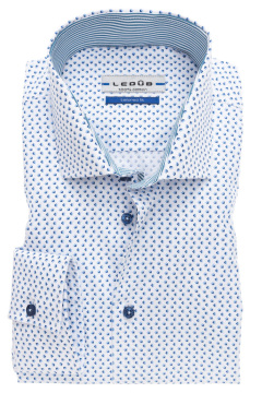 Tailored fit Ledub M7 overhemd blauw dessin