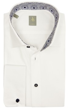 Overhemd Jacques Britt slim fit wit