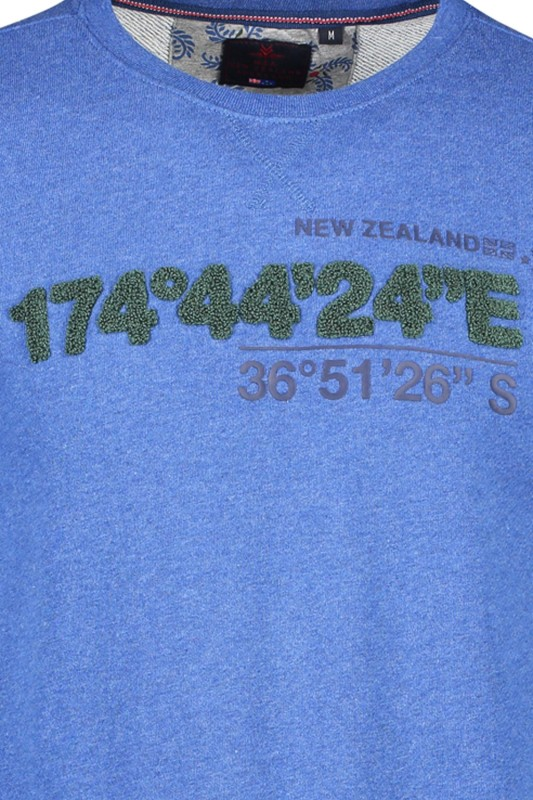 New Zealand pullover Paske petrol ronde hals