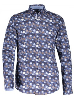 State of Art overhemd blauw print button down