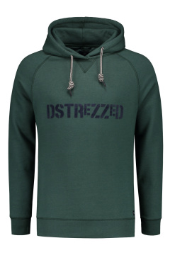 Sweater Dstrezzed army green met opdruk