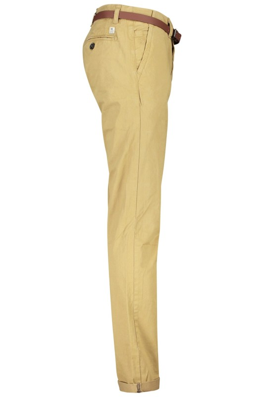 Chino Dstrezzed met riem khaki stretch