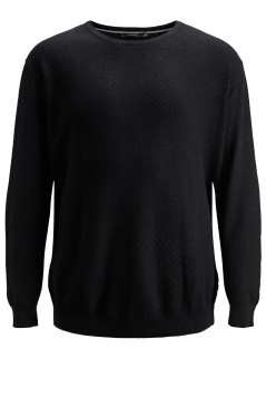 Jack & Jones Plus Size knitted jumper zwart ronde hals