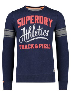 Superdry trui ronde hals donkerblauw print
