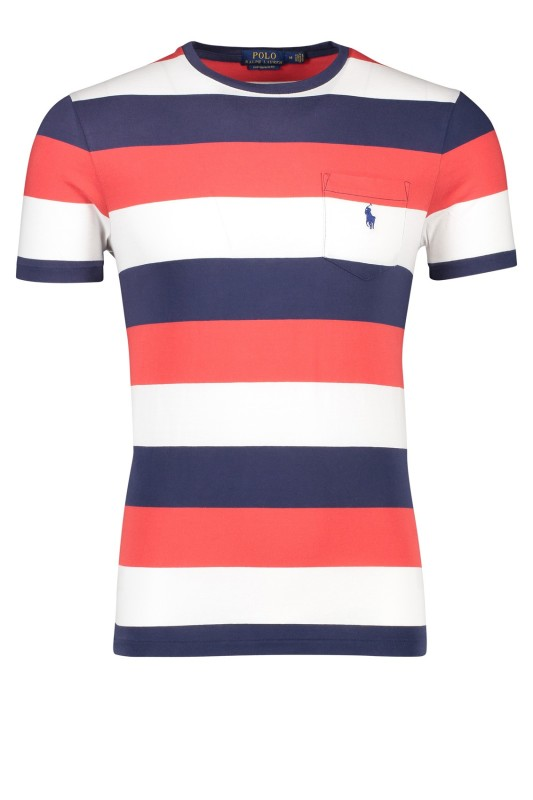 Ralph Lauren slim fit t-shirt streep rood navy