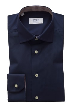 Eton overhemd donkerblauw Contemporary Fit
