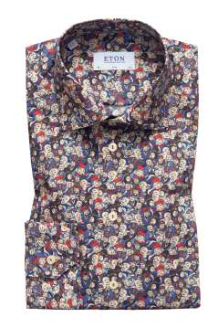 Eton overhemd Slim Fit japanese design print