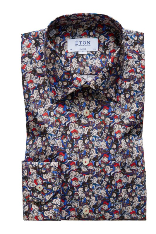 Eton overhemd Classic Fit japanese motief