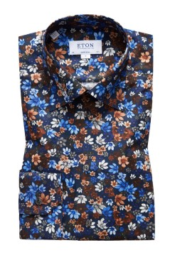 Eton ovrehemd bloemenprint Super Slim Fit