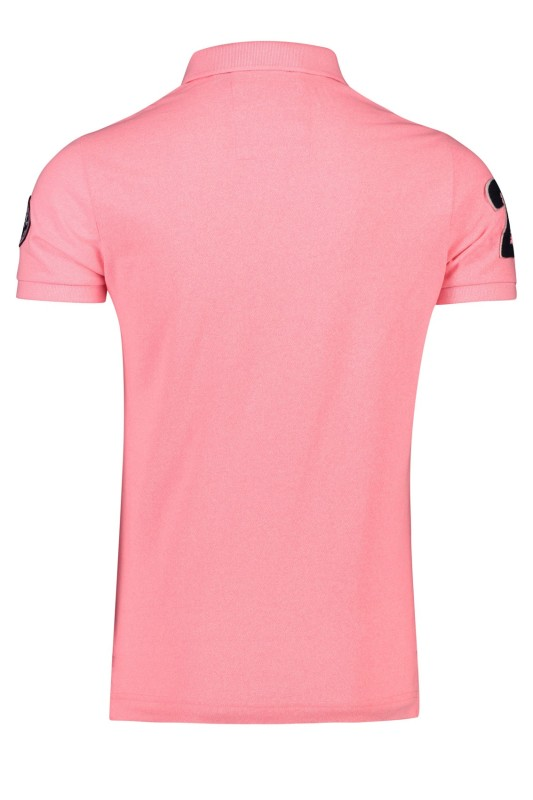 Superdry polo korte mouw university logo roze