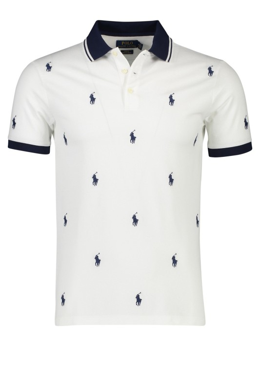 Ralph Lauren poloshirt slim fit stretch wit print