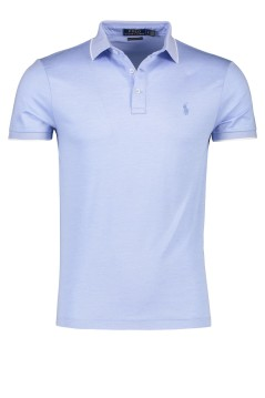 Ralph Lauren polo custom slim fit lichtblauw