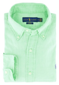 Overhemd Ralph Lauren fel groen button down