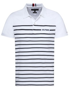 Tommy Hilfiger polo wit met strepen