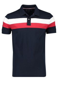 Tommy Hilfiger polo regular fit navy streep