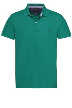 Tommy Hilfiger polo Big & Tall effen groen