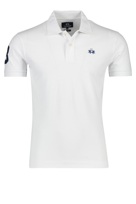 La Martina polo stretch wit slim fit