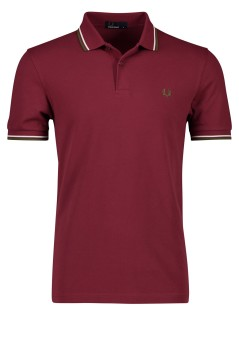 Fred Perry polo twin tipped bordeaux