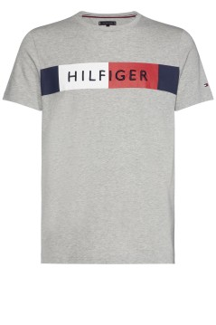 Tommy Hilfiger T-shirt Big & Tall grijs melange
