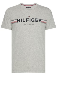 Tommy Hilfiger T-shirt Big & Tall grijs ronde hals