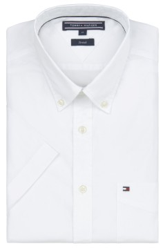 Tommy Hilfiger shirt Big & Tall wit korte mouw