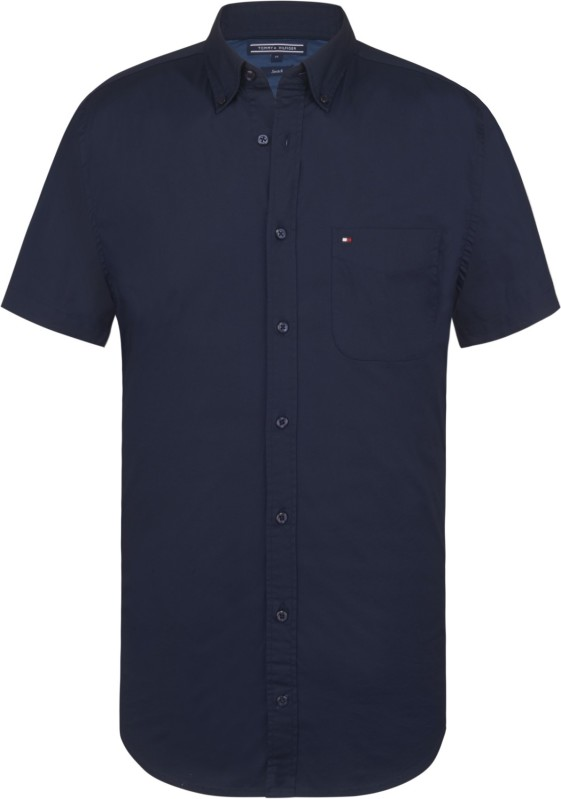 Tommy Hilfiger shirt Big & Tall navy korte mouw