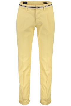 Mason's chino broek lichtgeel stretch slim fit