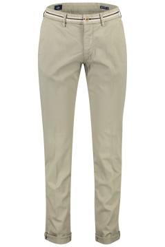 Mason's chino slim fit stretch groen beige