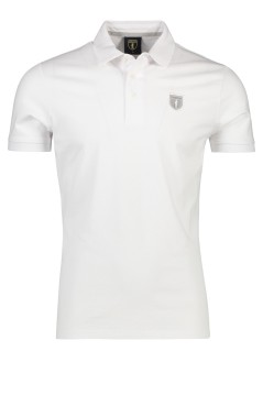 Cavallaro polo wit stretch katoen