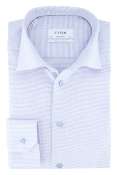 Eton overhemd lichtblauw twill Contemporary Fit