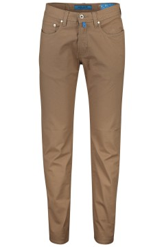 Pierre Cardin broek Lyon Tapered bruin 5-pocket