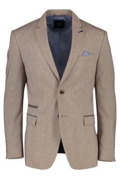 Pierre Cardin regular fit colbert beige structuur