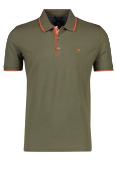 Pierre Cardin Adventure polo modern fit olijfgroen