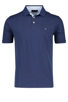 Portofino polo navy korte mouw stretch