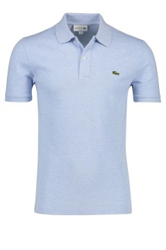 Lacoste polo slim fit katoen stretch lichtblauw