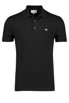 Lacoste polo zwart slim fit stretch