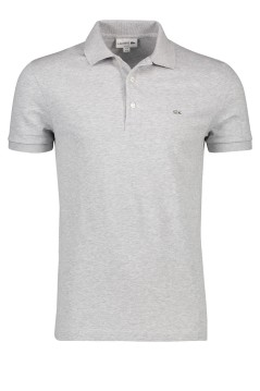 Lacoste polo slim fit stretch grijs