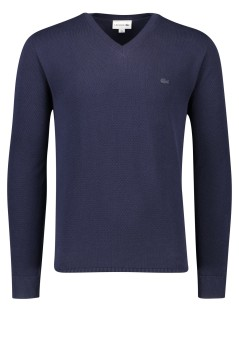 Trui Lacoste donkerblauw V-hals