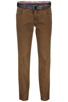 Meyer pantalon Dubai 5-pocket modern fit bruin