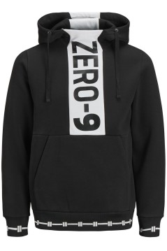 Jack & Jones Plus Size sweater hoodie zwart wit