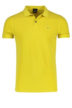 Hugo Boss Prime polo katoen geel slim fit