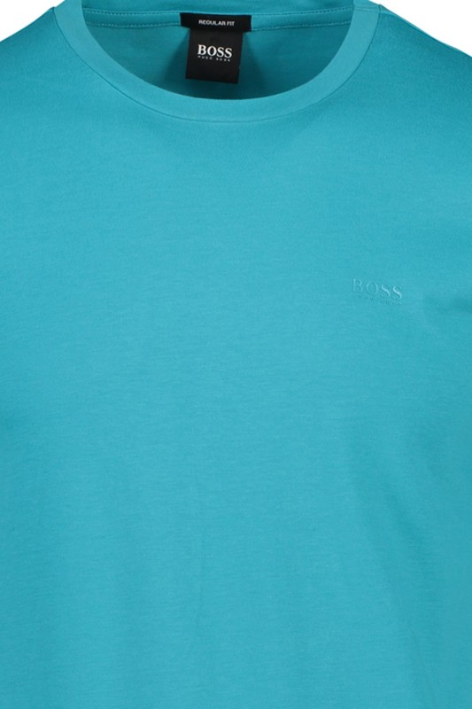 Hugo Boss t-shirt Lecco ronde hals turquoise